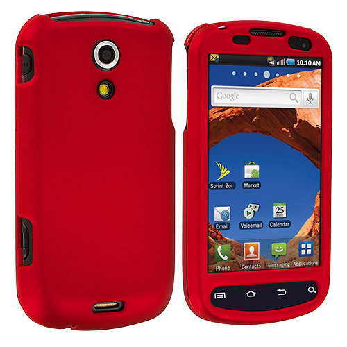 Samsung Epic 4G Red Hard Rubberized Case Cover