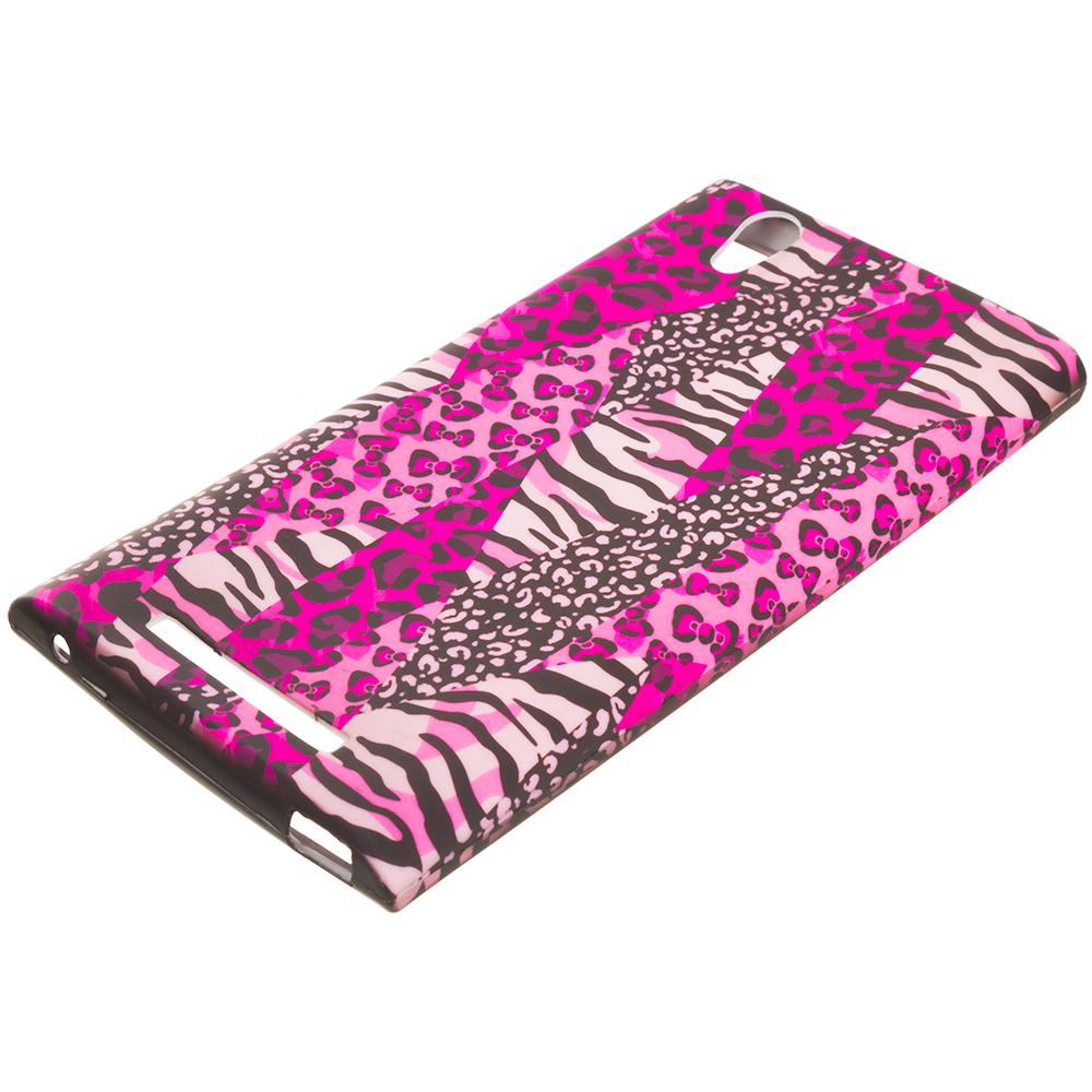 ZTE Zmax Bowknot Zebra TPU Design Soft Rubber Case Cover