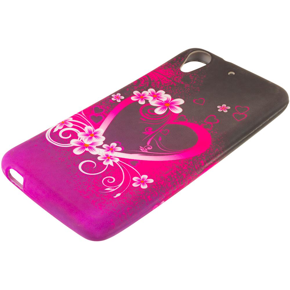 HTC Desire 626 / 626s Purple Love TPU Design Soft Rubber Case Cover