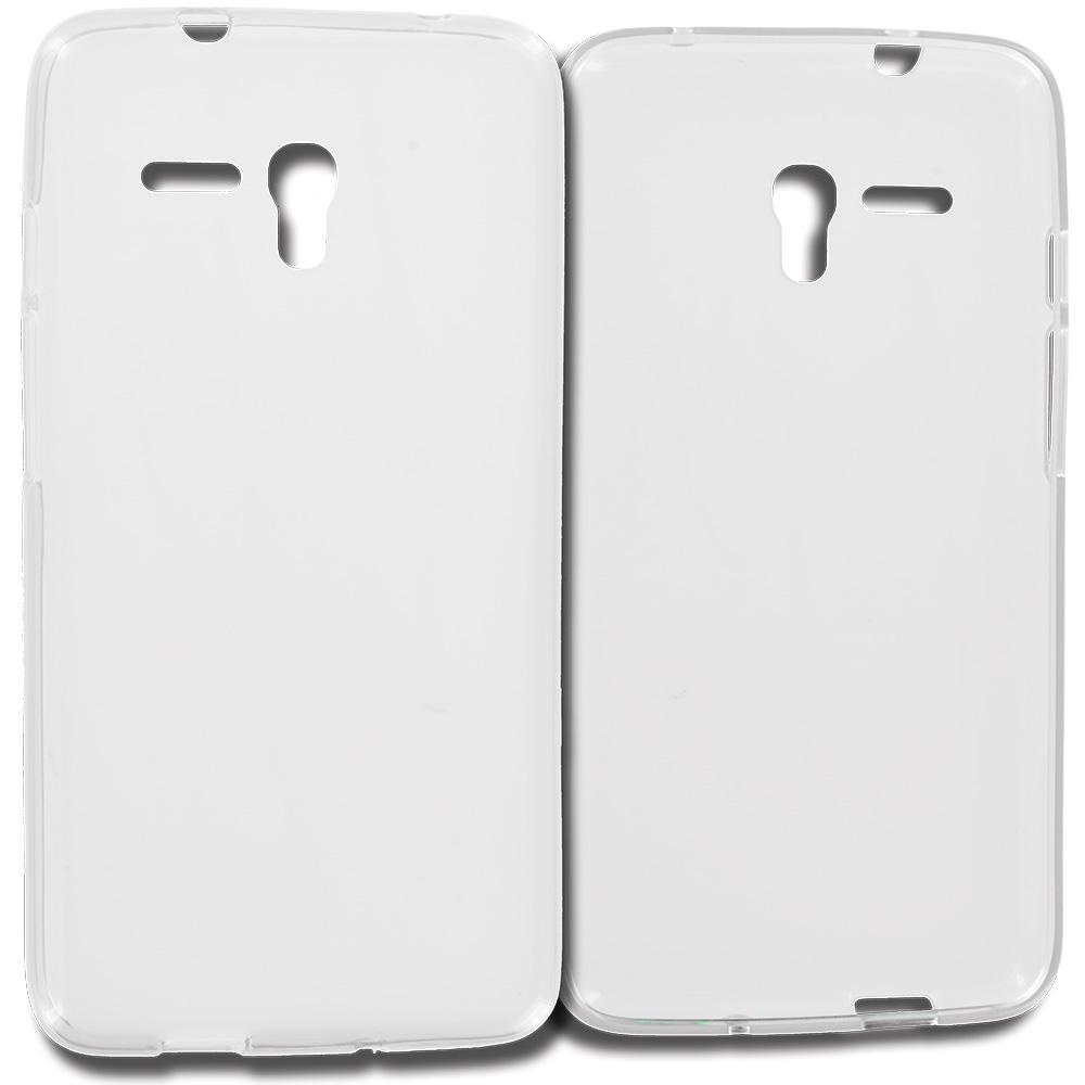 Alcatel OneTouch Fierce XL Clear TPU Rubber Skin Case Cover