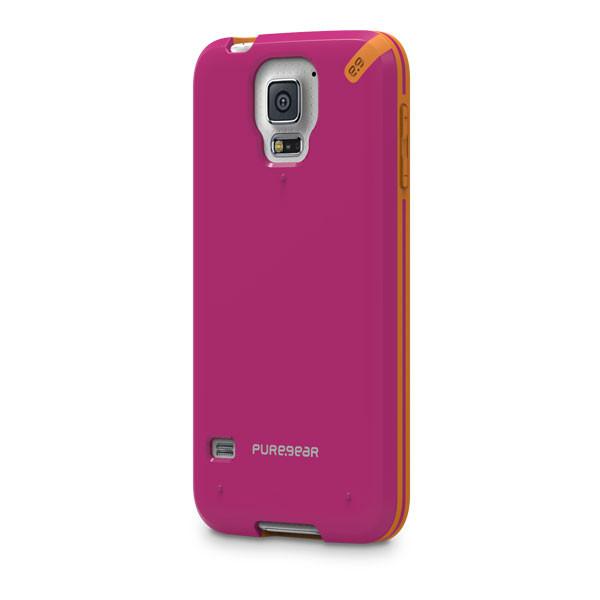 Samsung Galaxy S5 - Sunset Pink PureGear Slim Shell Case