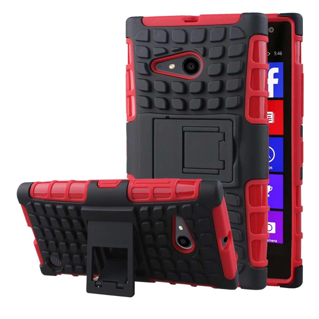 Nokia Lumia 735 - Red MPERO IMPACT SR - Kickstand Case Cover
