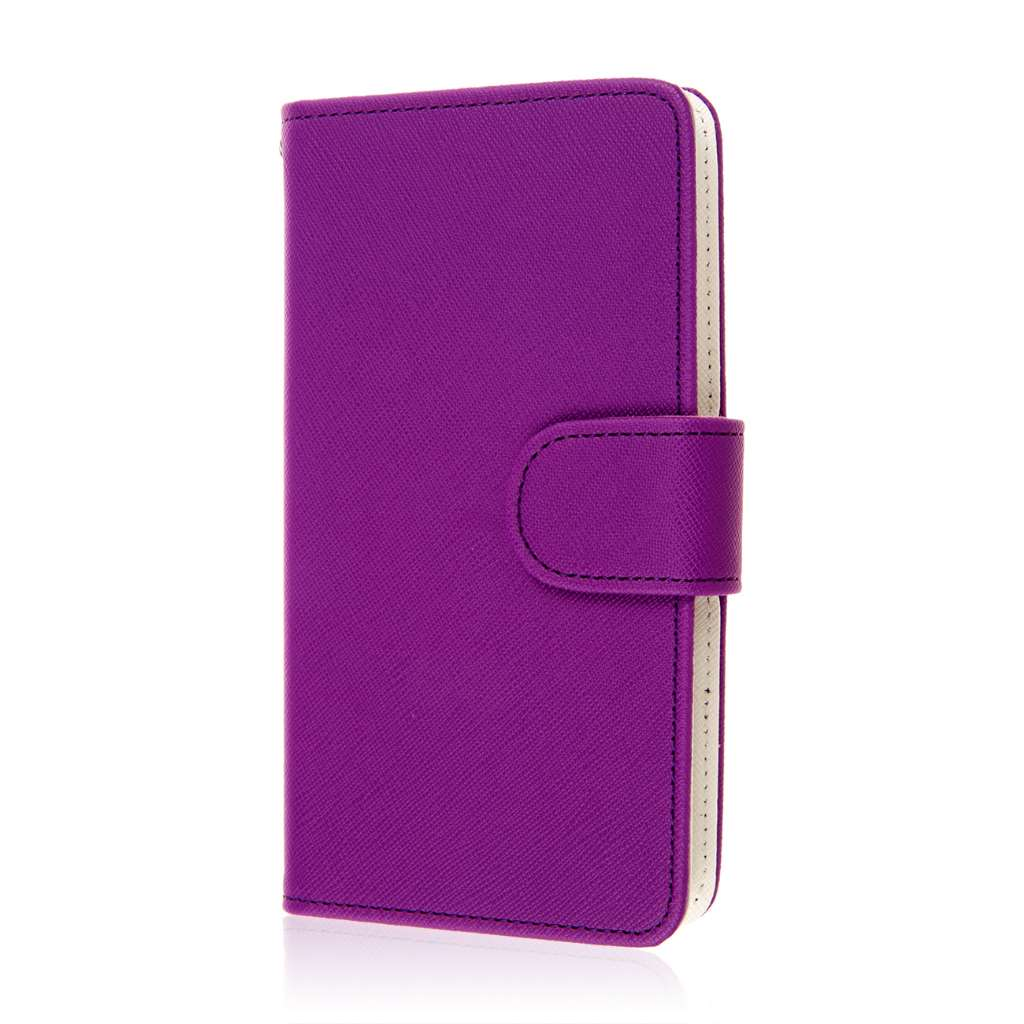 Microsoft Lumia 535 - Purple MPERO FLEX FLIP Wallet Case Cover