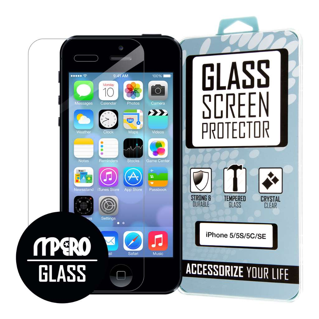 Apple iPhone 5 / 5S / 5C MPERO Tempered Glass Screen Protector