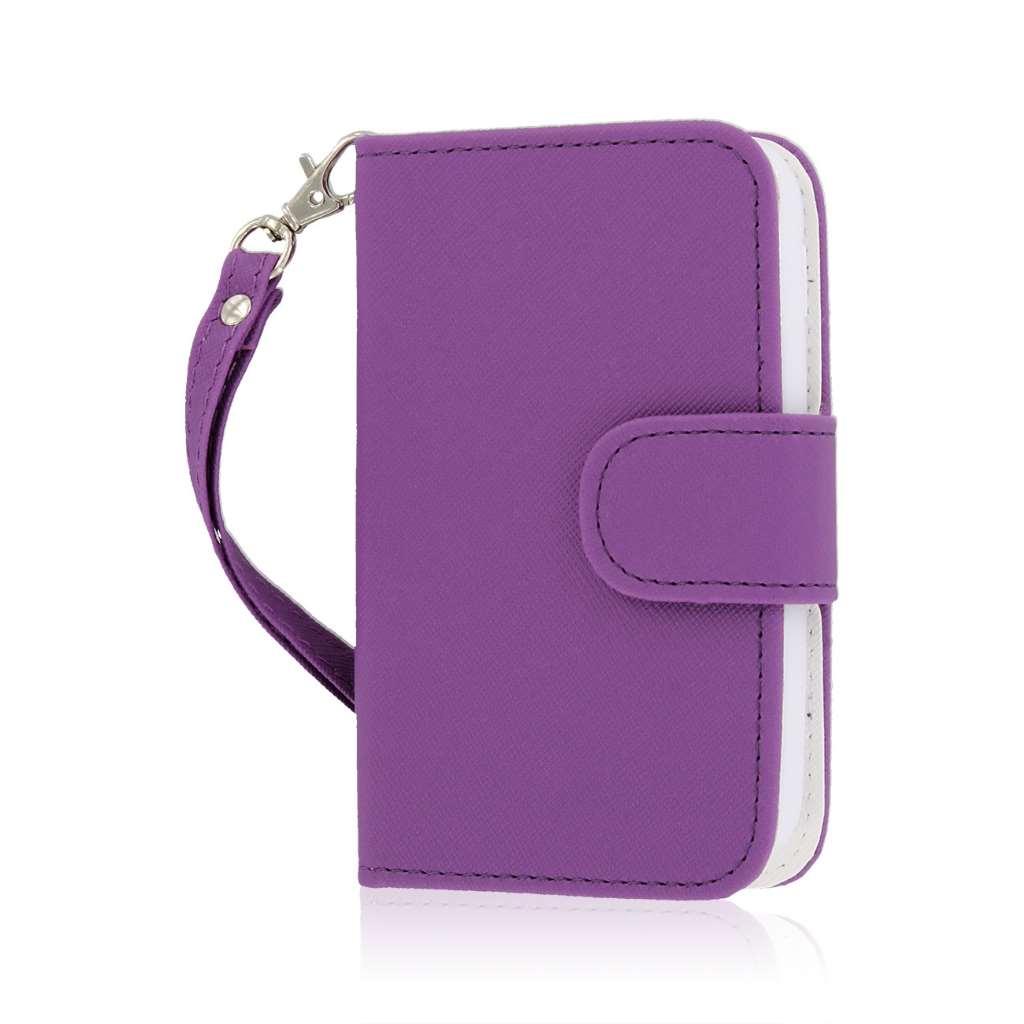 LG Optimus Dynamic 2 - Purple MPERO FLEX FLIP Wallet Case Cover