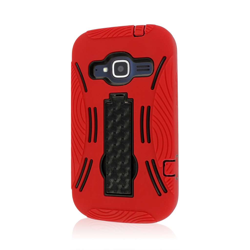 ZTE Concord 2 - Red MPERO IMPACT XL - Kickstand Case Cover