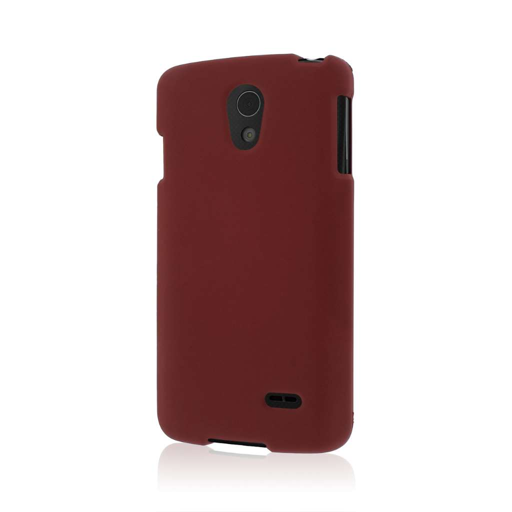 LG Lucid 3 - Burgundy MPERO SNAPZ - Case Cover
