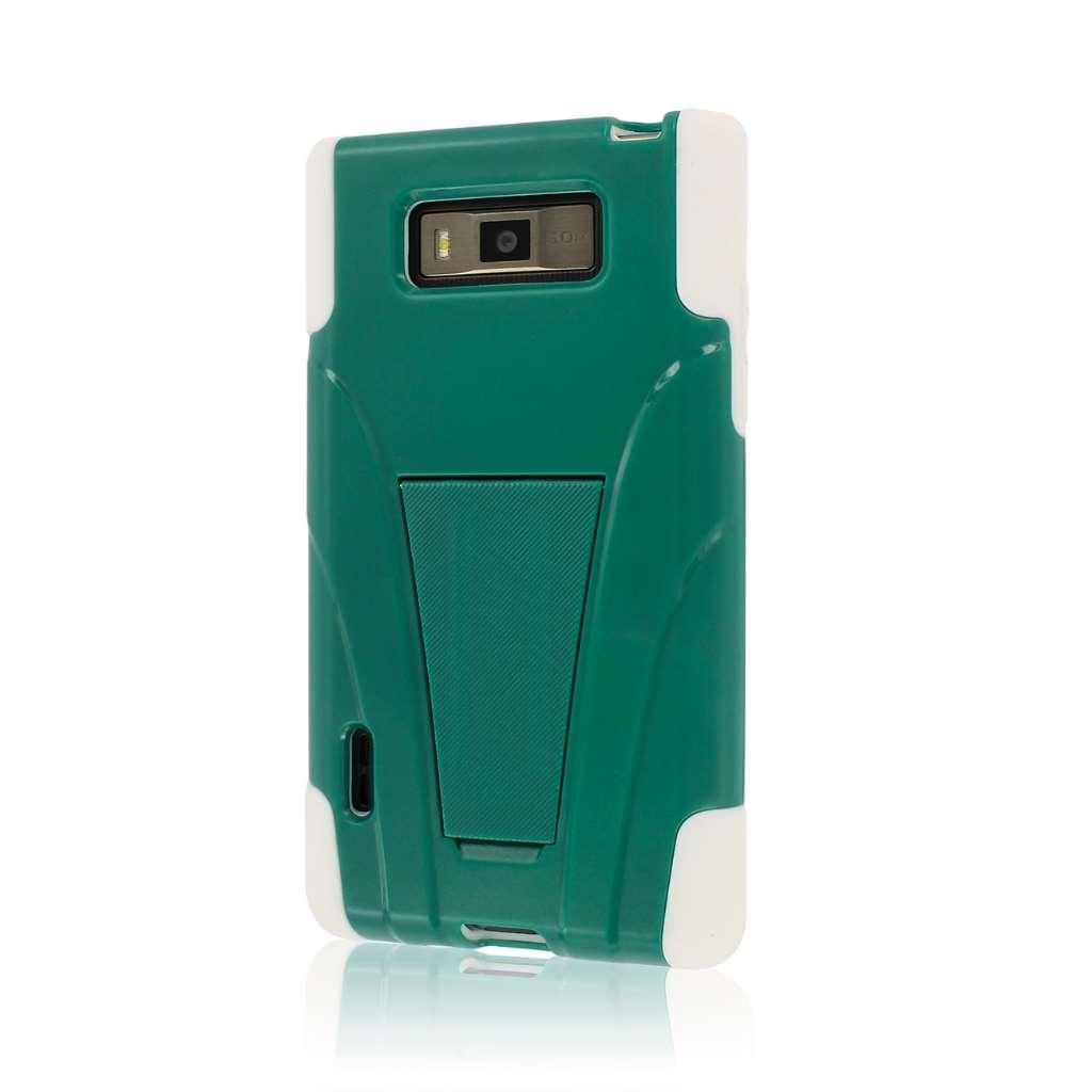 LG Splendor / Venice US730 - Teal Green MPERO IMPACT X - Kickstand Case