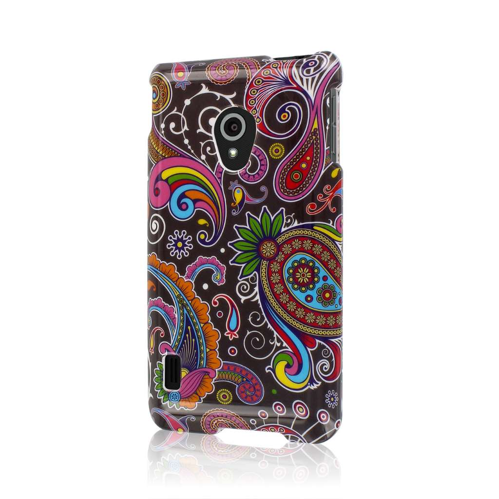 LG Lucid 2 - Black Paisley MPERO SNAPZ - Glossy Case Cover