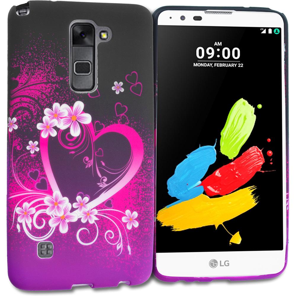 LG G Stylo 2 LS775 Purple Love TPU Design Soft Rubber Case Cover