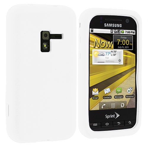 Samsung Conquer 4G D600 White Silicone Soft Skin Case Cover