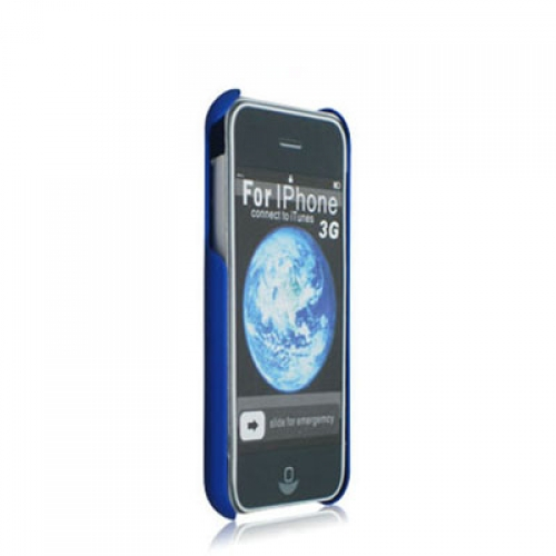 Apple iPhone 3G / 3GS Blue Hard Rubberized Back Cover Case