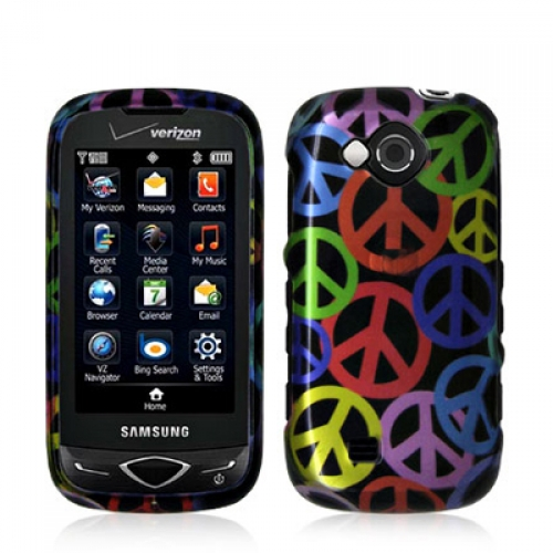 Samsung Reality U820 Peace Sign Design Crystal Hard Case Cover