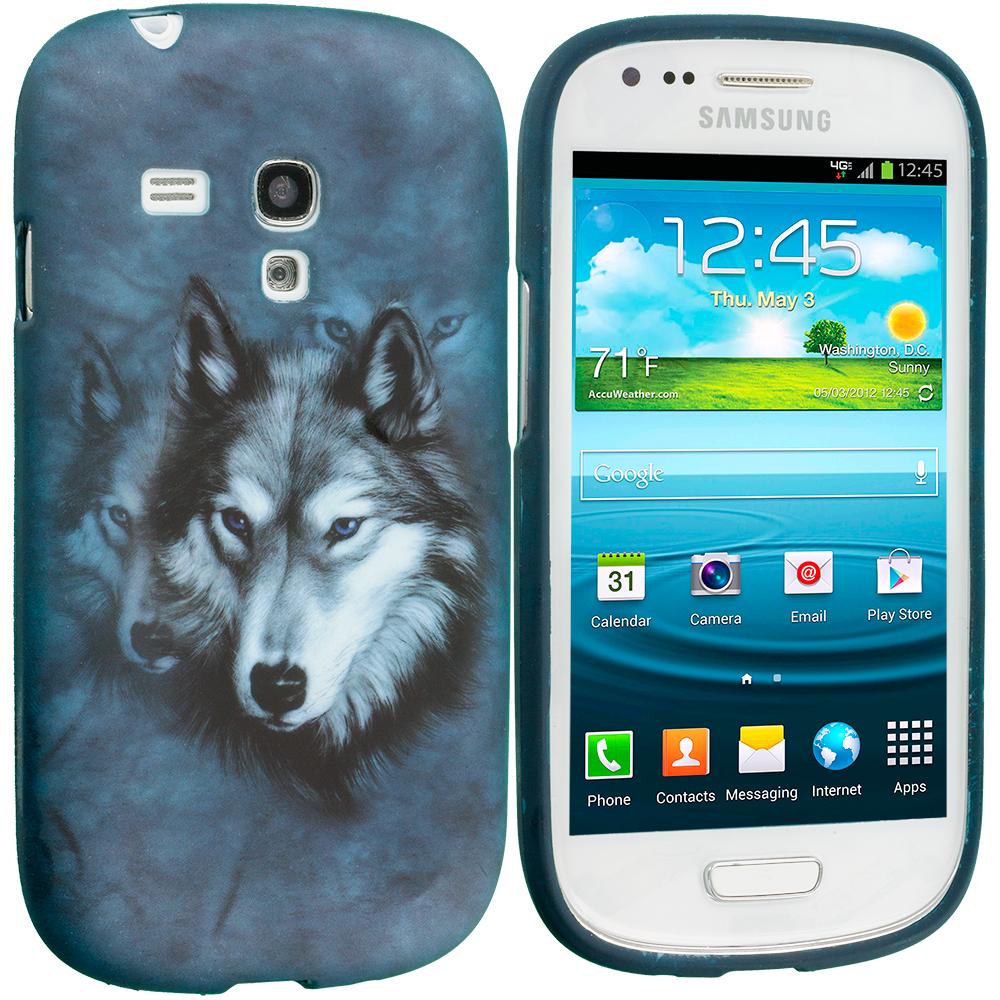 Samsung Galaxy S3 Mini i8190 Wolf TPU Design Soft Case Cover