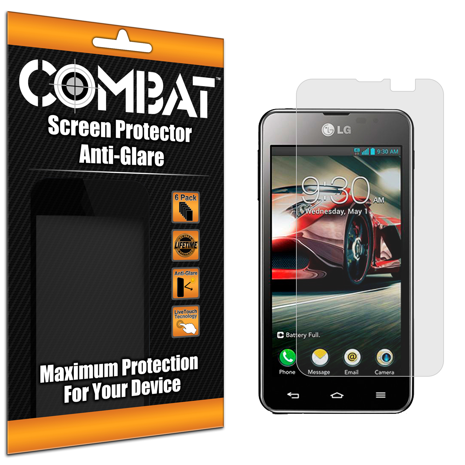 LG Optimus F5 Combat 6 Pack Anti-Glare Matte Screen Protector