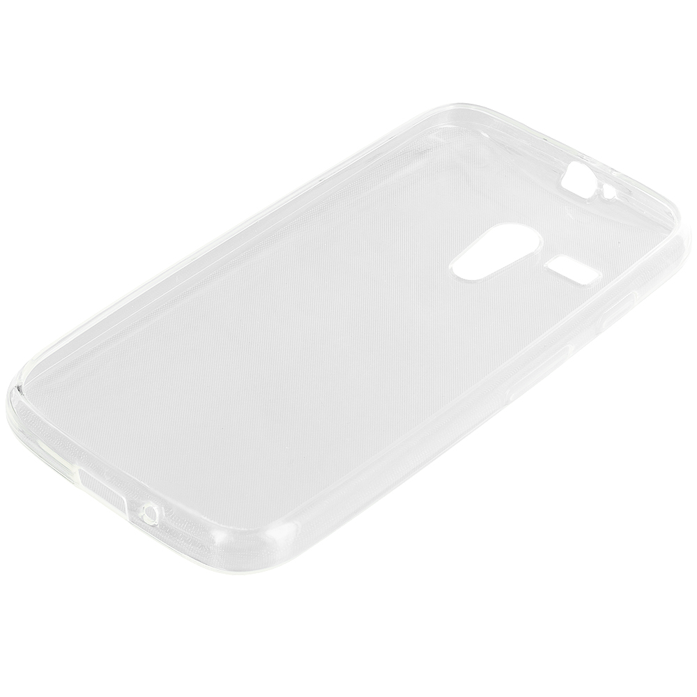 Motorola Moto G Clear TPU Rubber Skin Case Cover