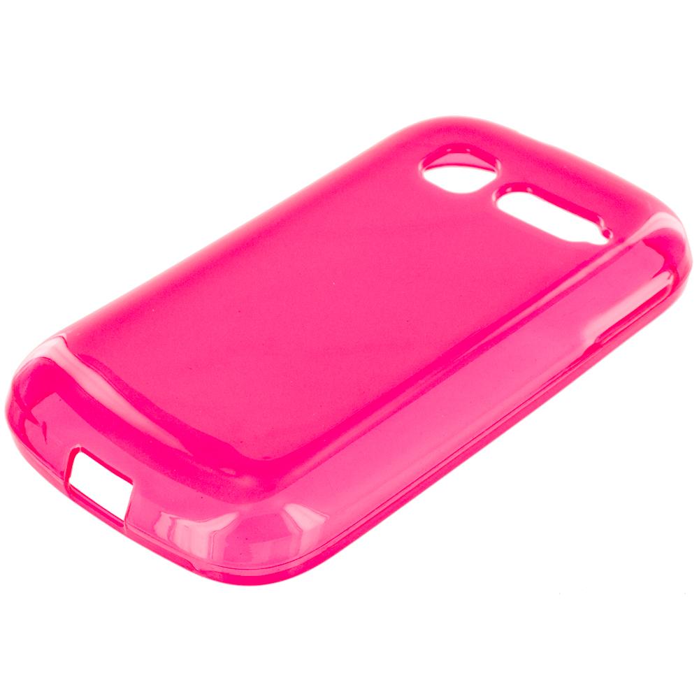 Alcatel One Touch Pop C1 Hot Pink TPU Rubber Skin Case Cover