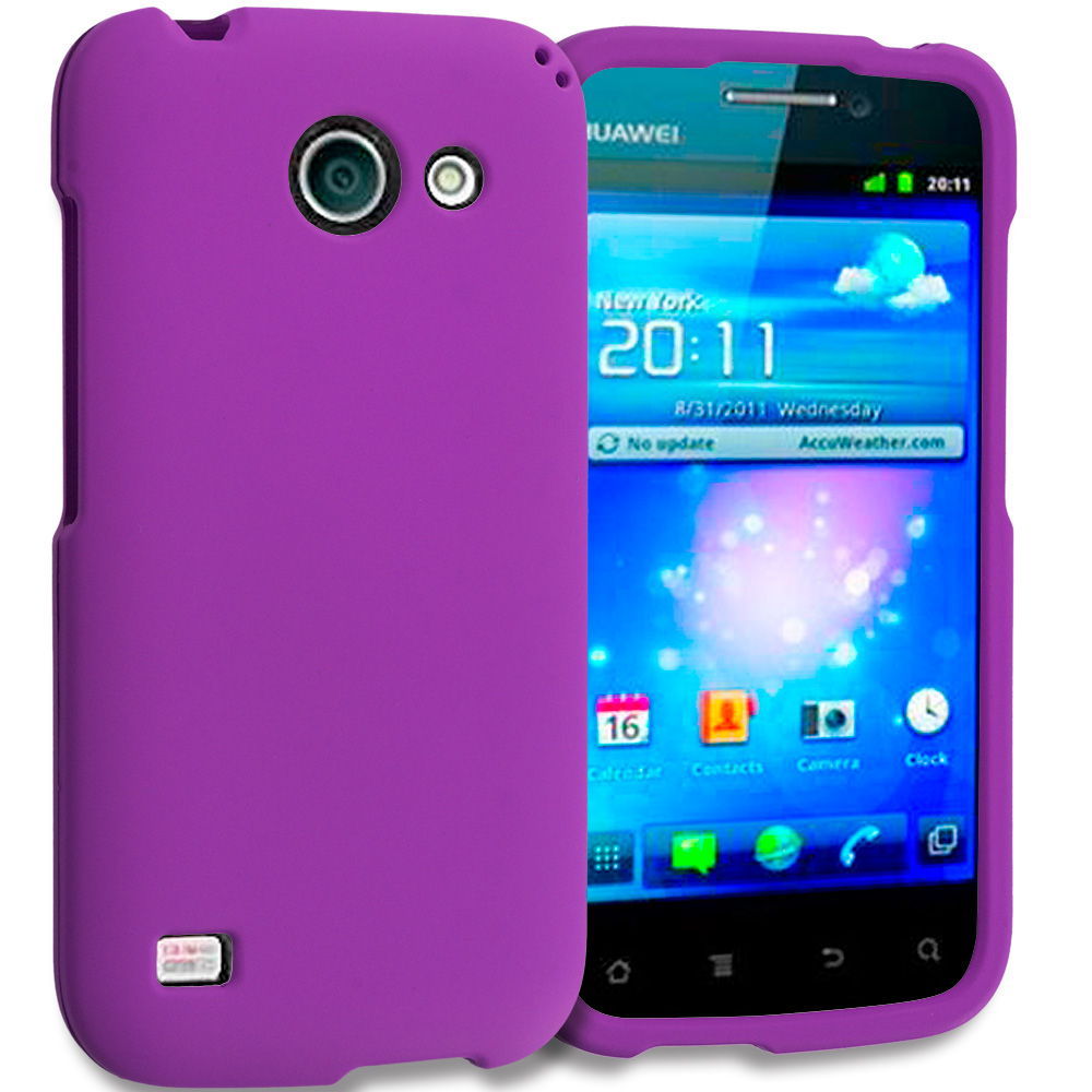 Huawei Tribute Fusion 3 Y536A1 Purple Hard Rubberized Case Cover