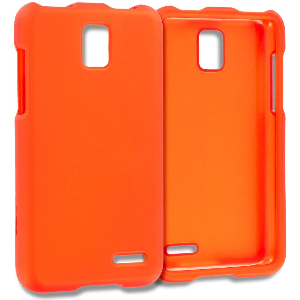 ZTE Rapido Z932C Orange Hard Rubberized Case Cover