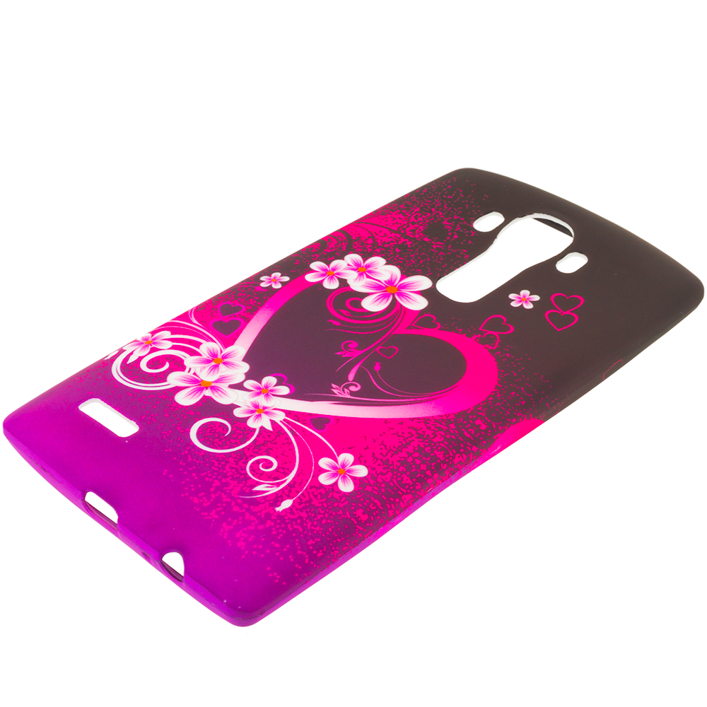 LG G4 Purple Love TPU Design Soft Rubber Case Cover