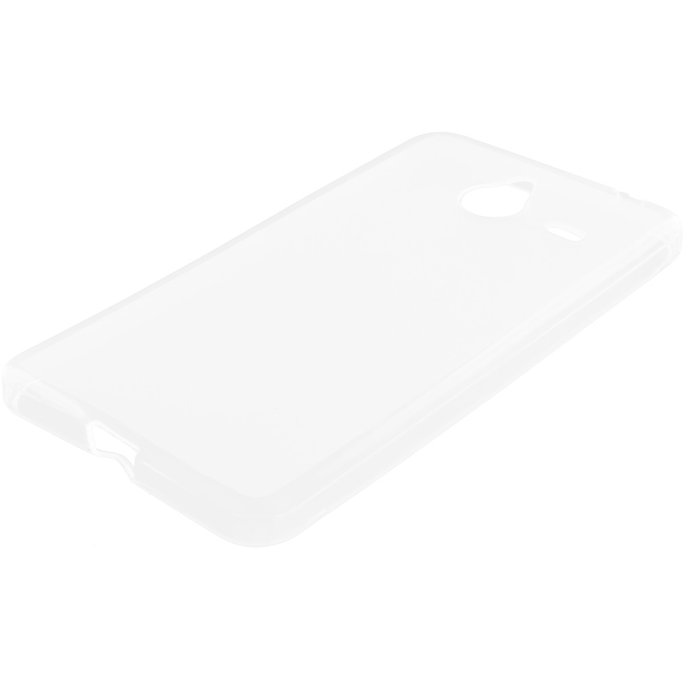 Microsoft Lumia 640 XL Clear TPU Rubber Skin Case Cover