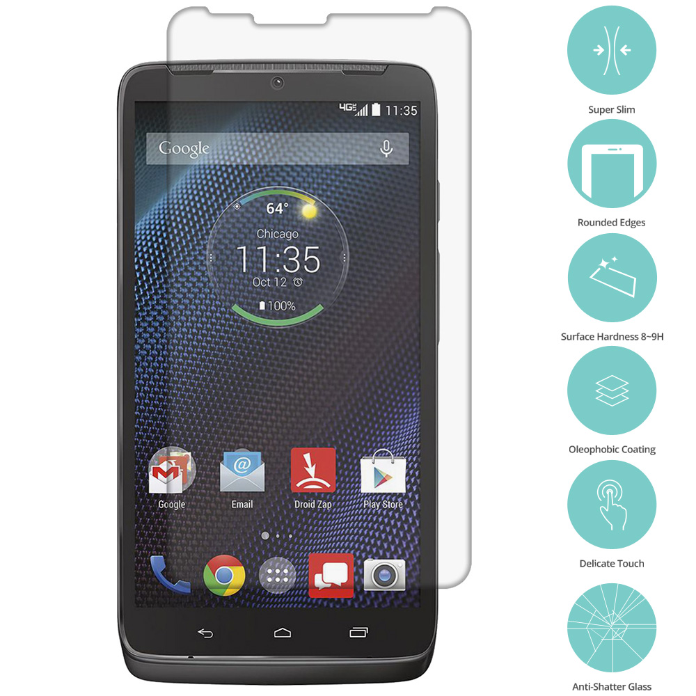 Motorola Droid Turbo Clear Tempered Glass Film Screen Protector Clear