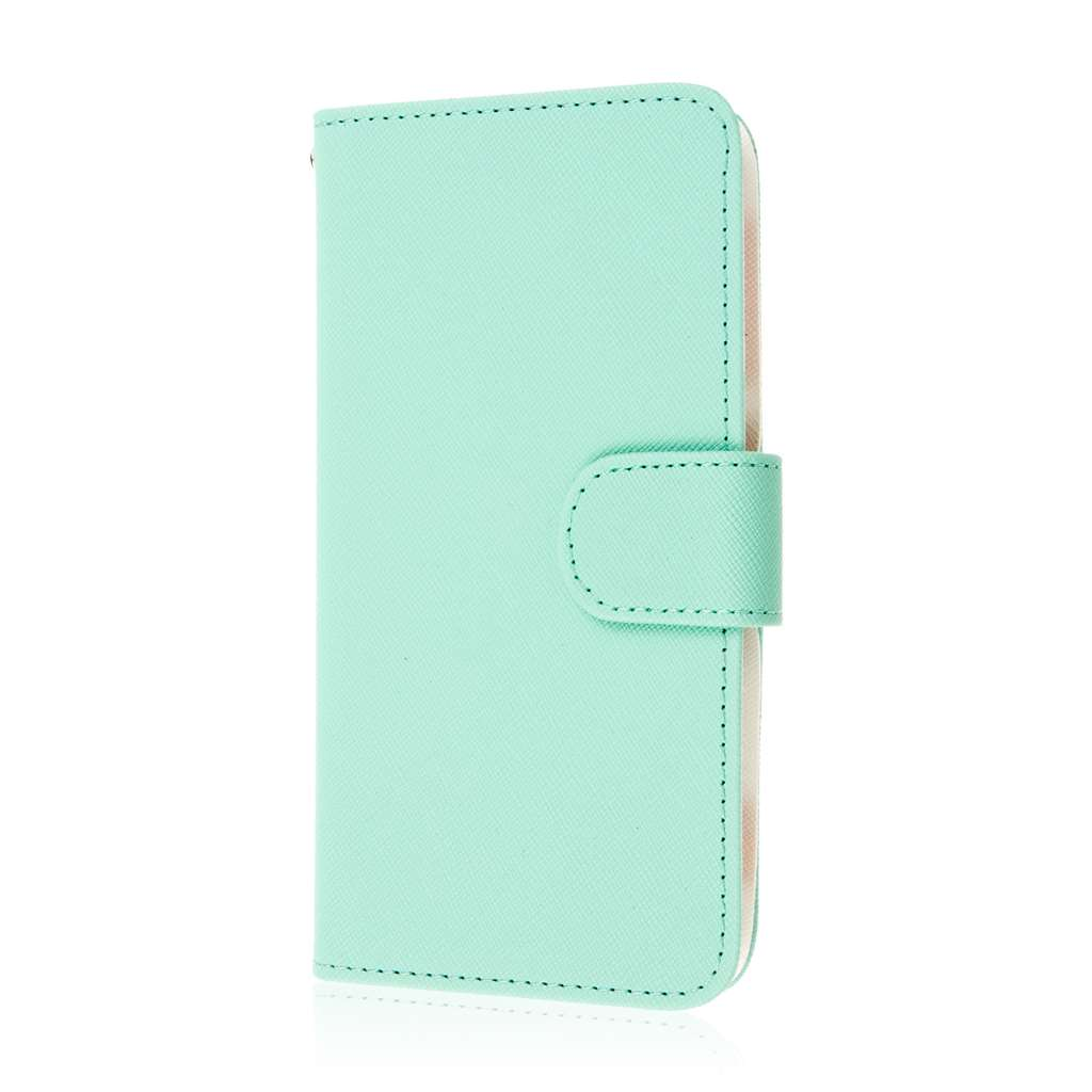HTC Desire EYE - Mint MPERO FLEX FLIP Wallet Case Cover