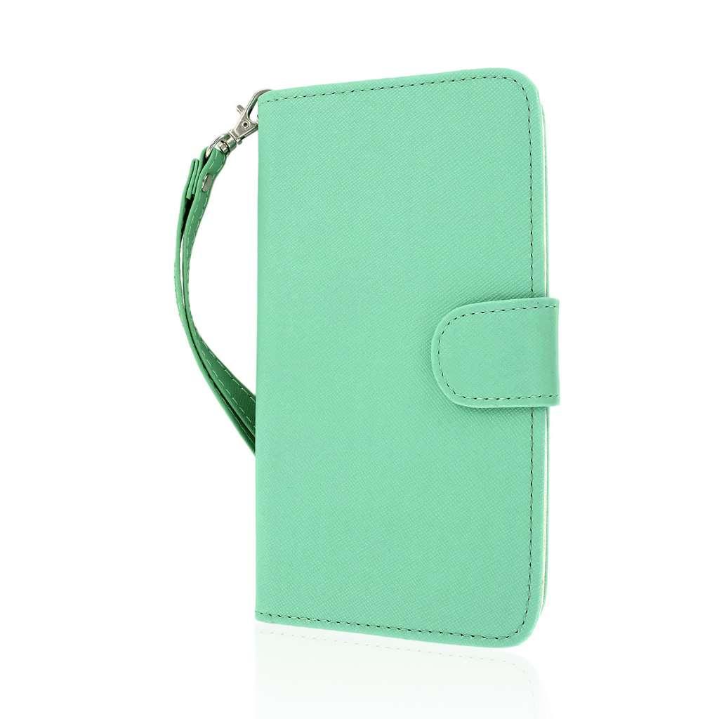 LG G Pro 2 - Mint MPERO FLEX FLIP Wallet Case Cover