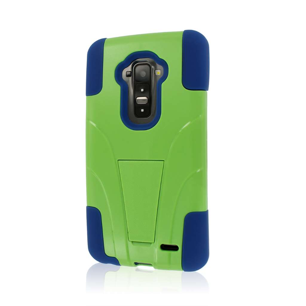 LG G Flex - Blue/ Green MPERO IMPACT X - Kickstand Case Cover