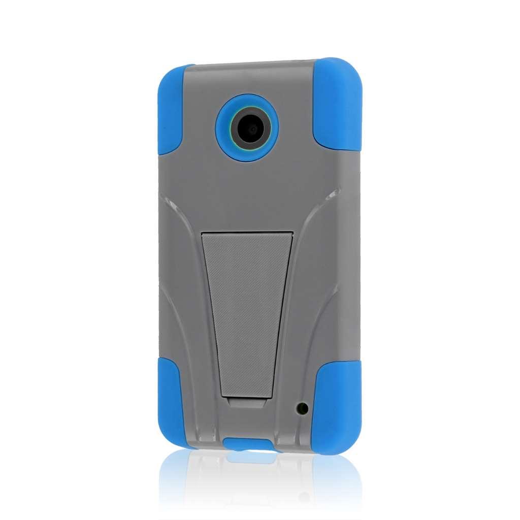 Nokia Lumia 635 - Blue / Gray MPERO IMPACT X - Kickstand Case Cover