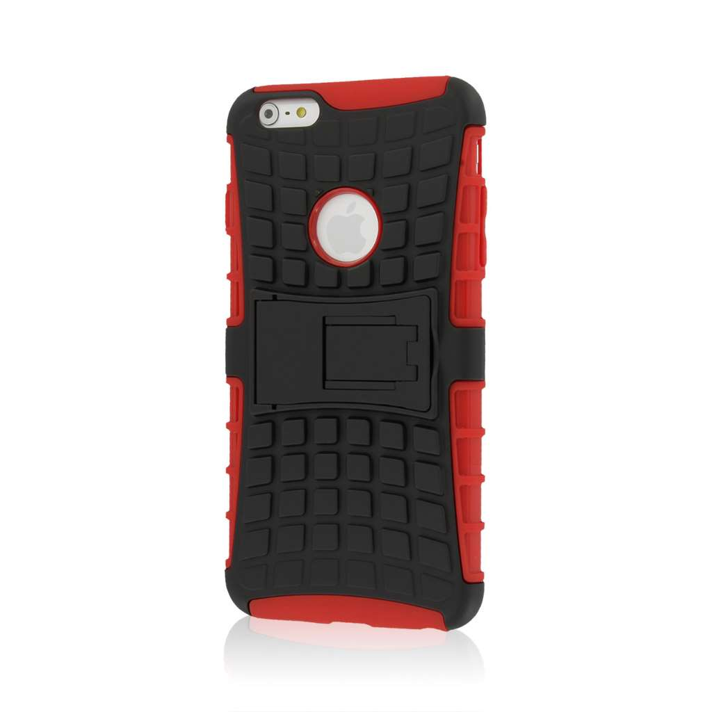Apple iPhone 6 6S Plus - Red MPERO IMPACT SR - Kickstand Case Cover