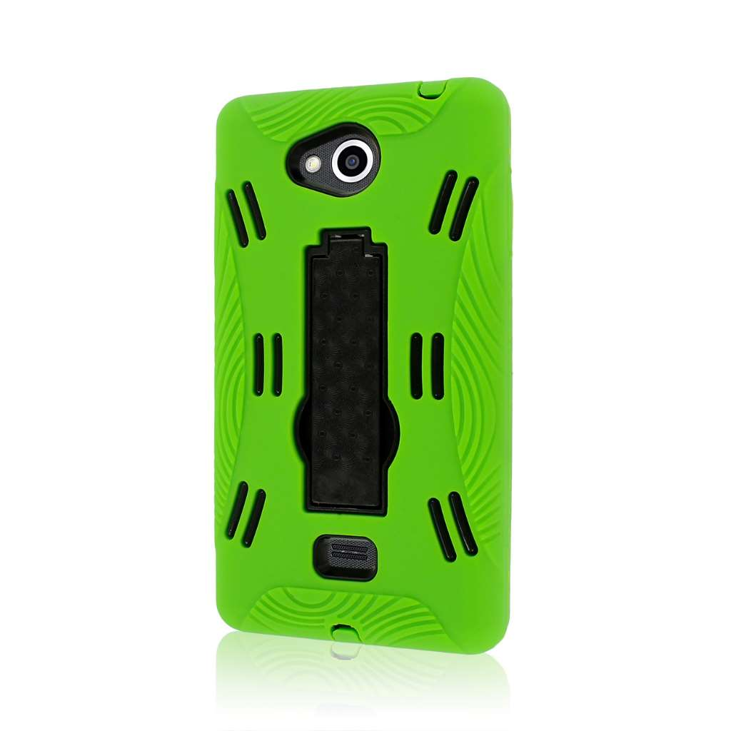 LG Spirit MS870 - Neon Green MPERO IMPACT XL - Kickstand Case Cover