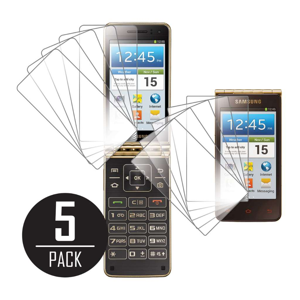Samsung Galaxy Golden MPERO 5 Pack of Clear Screen Protectors