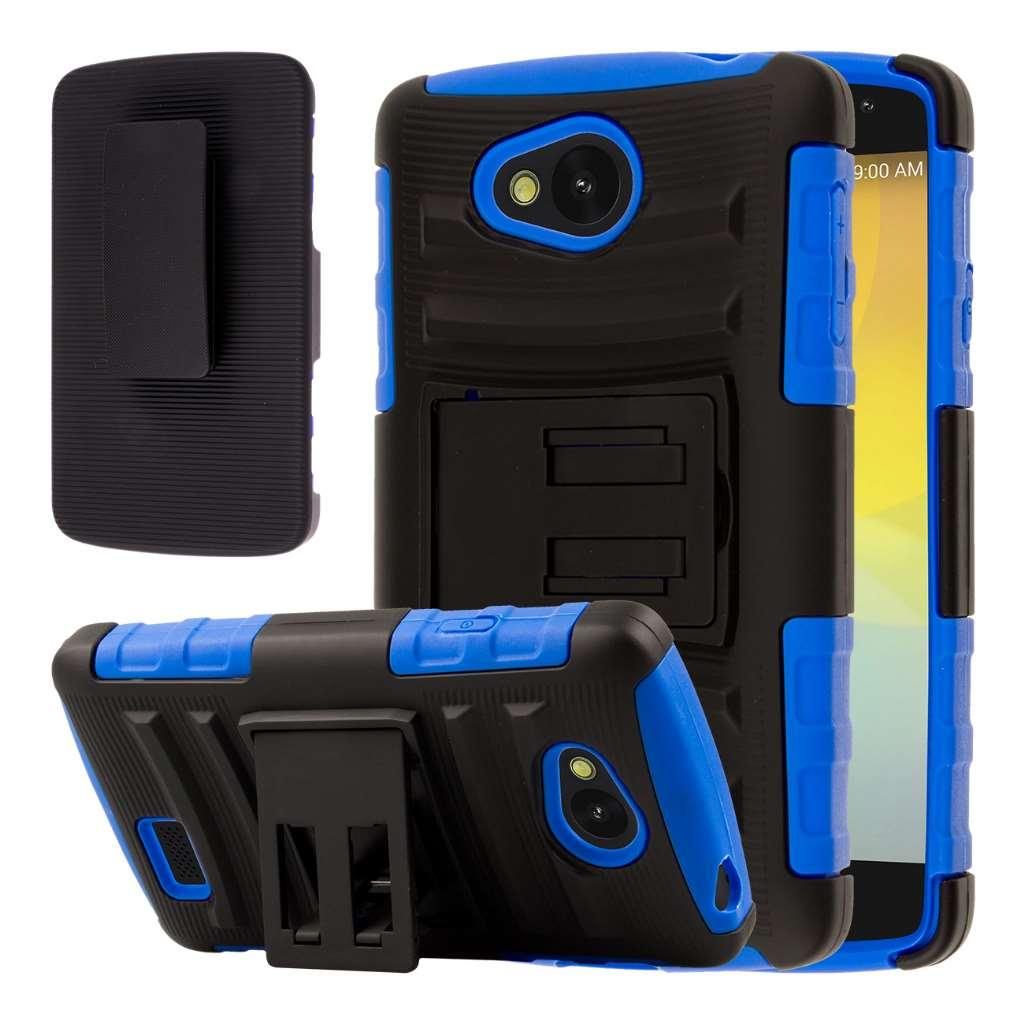 LG F60 - Blue MPERO IMPACT XT - Kickstand Case Cover