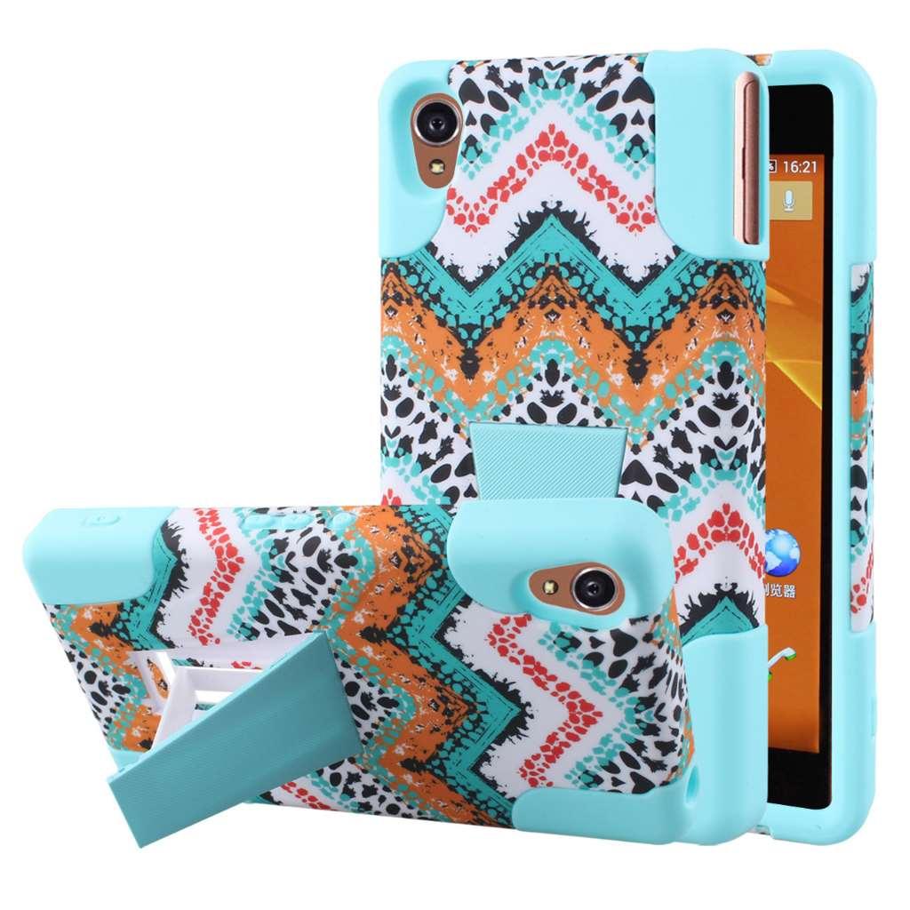 Sony Xperia Z3v - Aqua Safari MPERO IMPACT X - Kickstand Case Cover