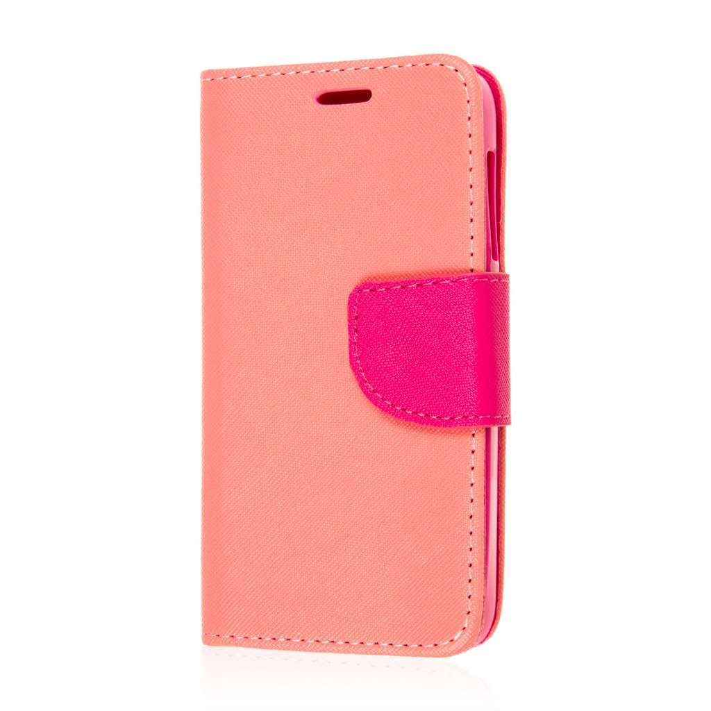 Alcatel OneTouch Pop Astro - Hot Pink MPERO FLEX FLIP 2 Wallet Stand Case