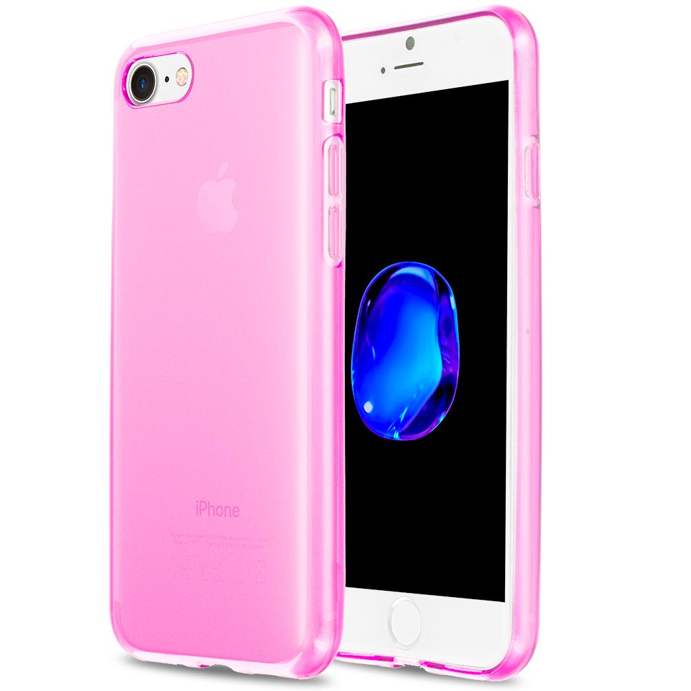 Apple iPhone 7 Plus Hot Pink TPU Rubber Skin Case Cover