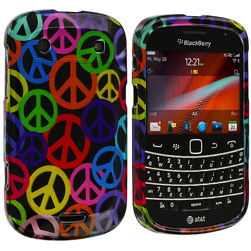 BlackBerry Bold Touch 9900 9330 Peace Sign Design Crystal Hard Case Cover