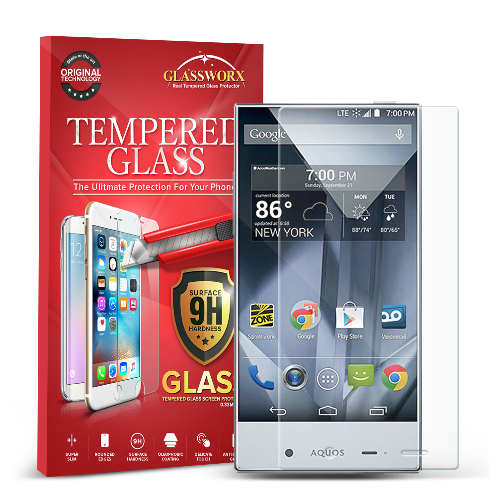 Sharp Aquos Crystal Clear GlassWorX HD Tempered Glass Screen Protector