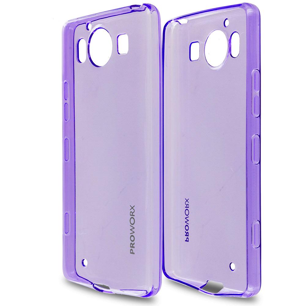 Microsoft Lumia 950 Purple ProWorx Ultra Slim Thin Scratch Resistant TPU Silicone Case Cover