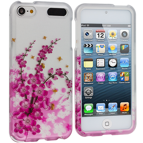Apple iPod Touch 5th 6th Generation Spring Flowers Hard Rubberized Design Case Cover