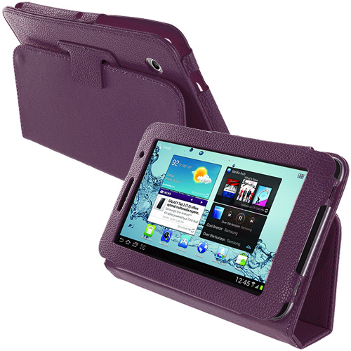 Samsung Galaxy Tab 2 7.0 Purple Folio Pouch Case Cover Stand