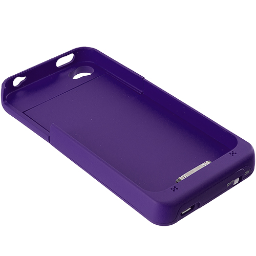 Apple iPhone 4 / 4S 2500mAh Purple External Backup Battery Case Cover