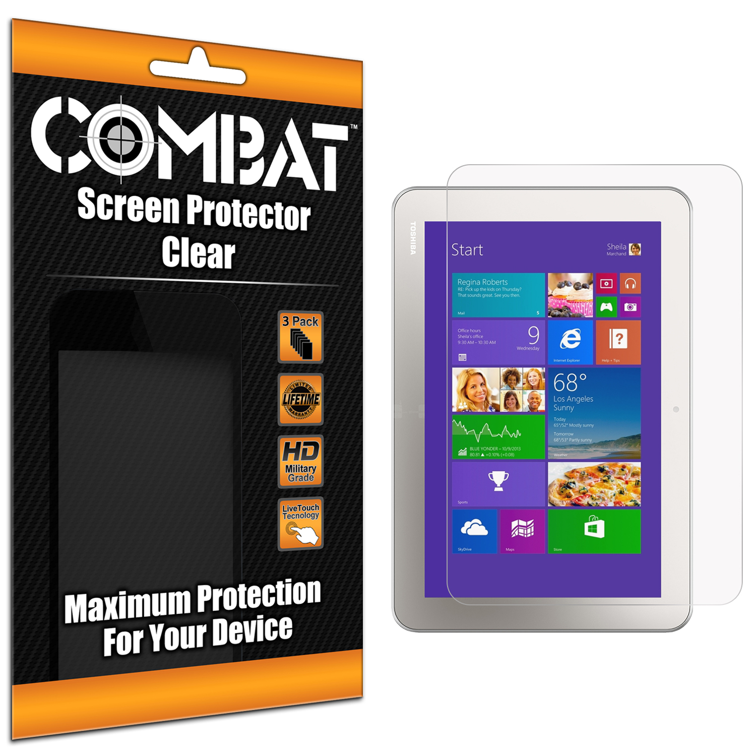 Toshiba Encore 2 10.1 Clear Combat 6 Pack HD Clear Screen Protector