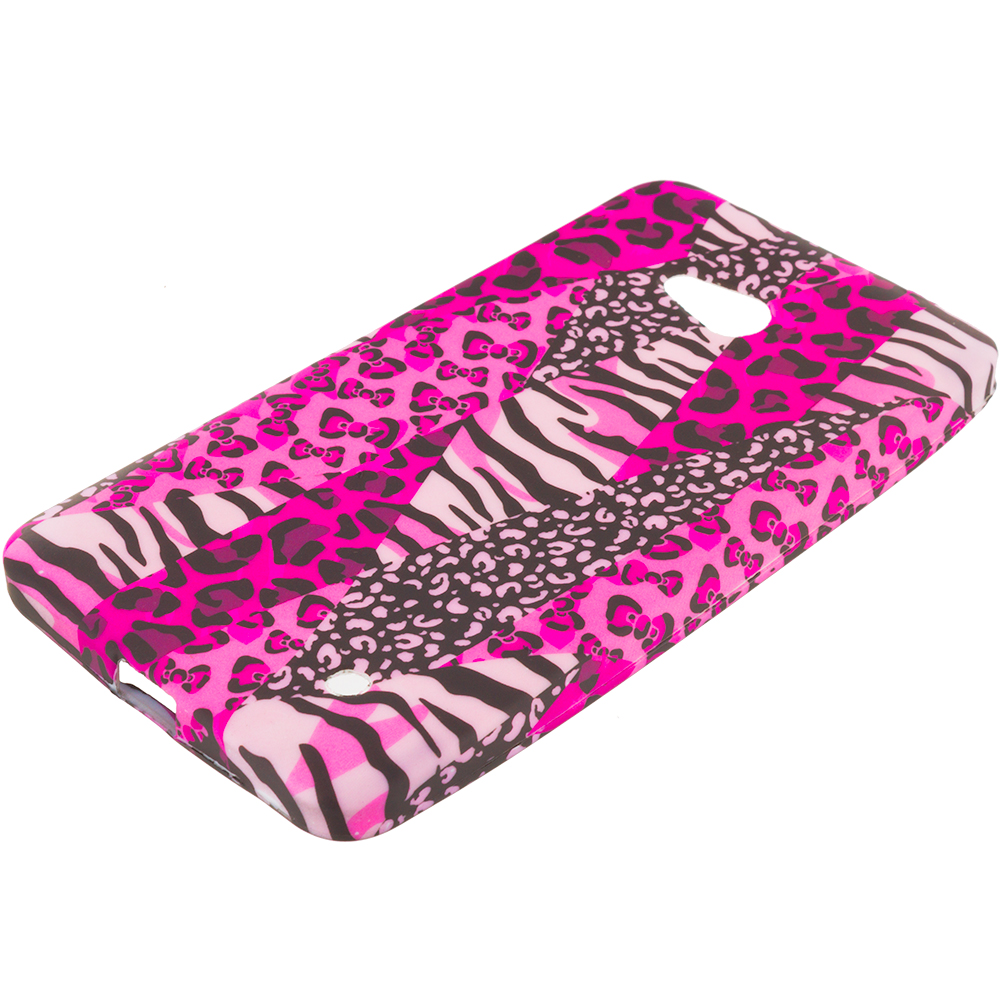 Microsoft Lumia 640 Bowknot Zebra TPU Design Soft Rubber Case Cover