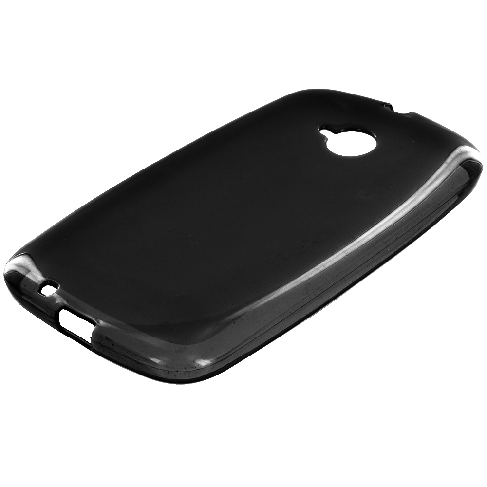 Motorola Moto E LTE 2nd Generation Black TPU Rubber Skin Case Cover