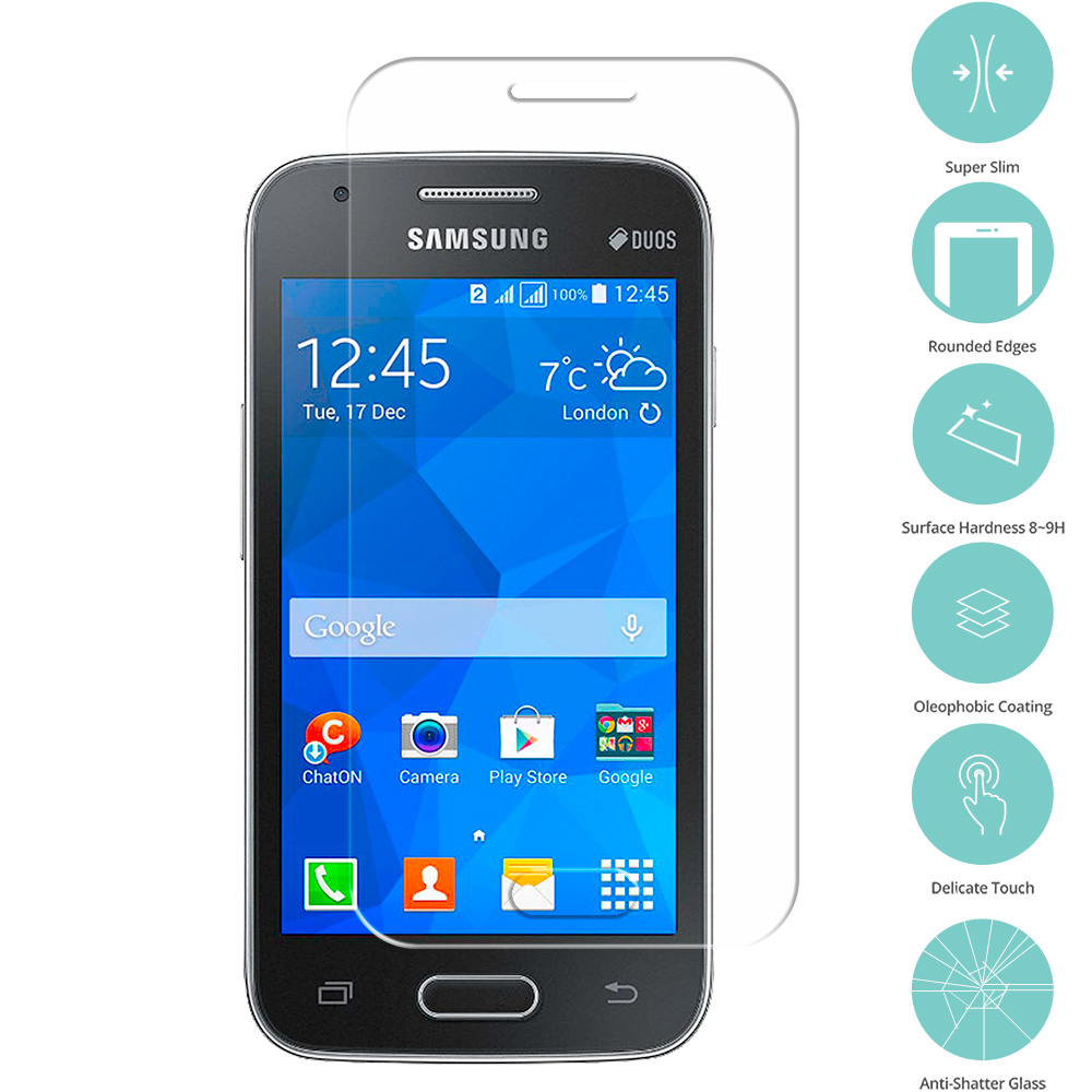 Samsung Galaxy V Plus Clear Tempered Glass Film Screen Protector Clear