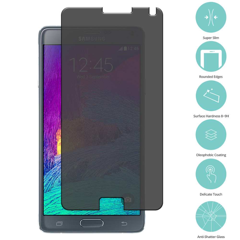 Samsung Galaxy Note 4 Privacy Tempered Glass Film Screen Protector