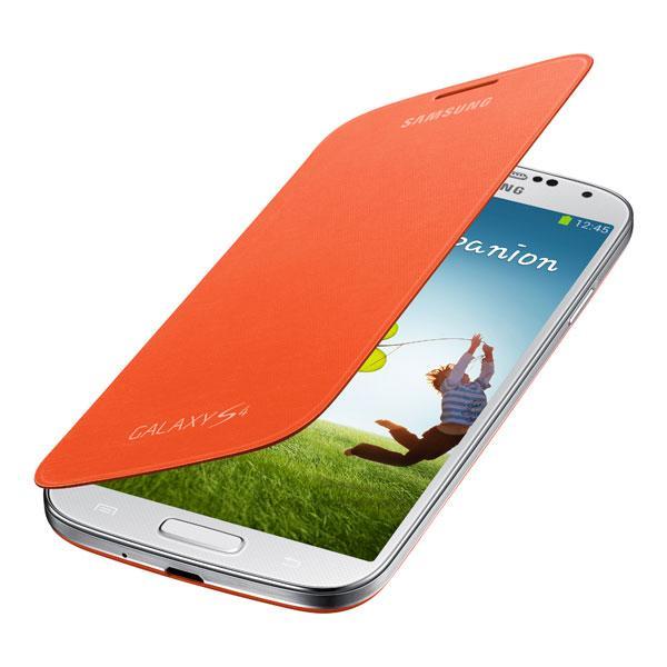 Galaxy S4 - Orange Samsung Flip Cover