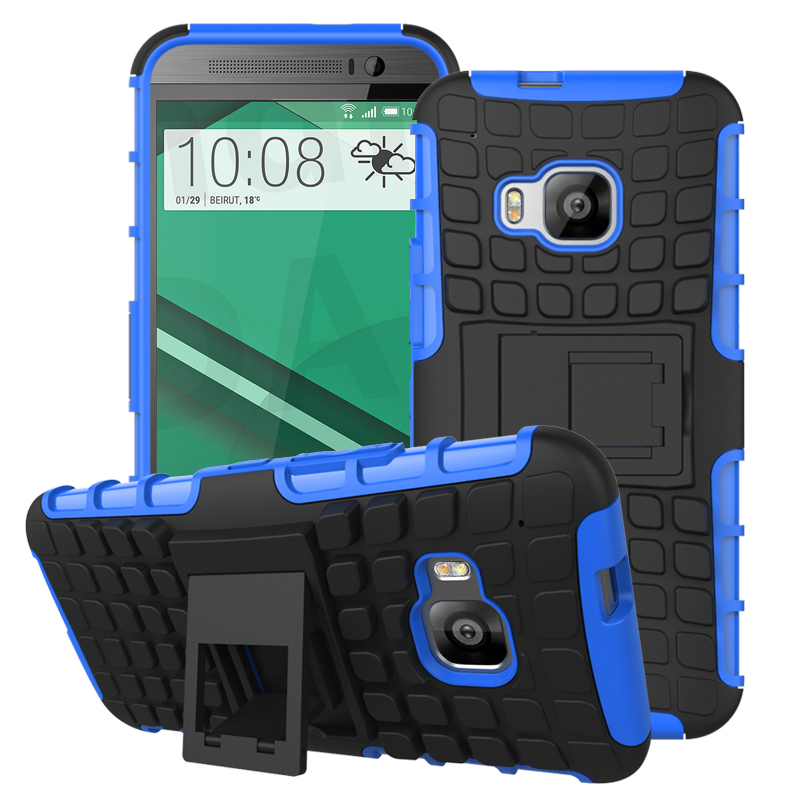 HTC One M9 - Blue MPERO IMPACT SR - Kickstand Case Cover